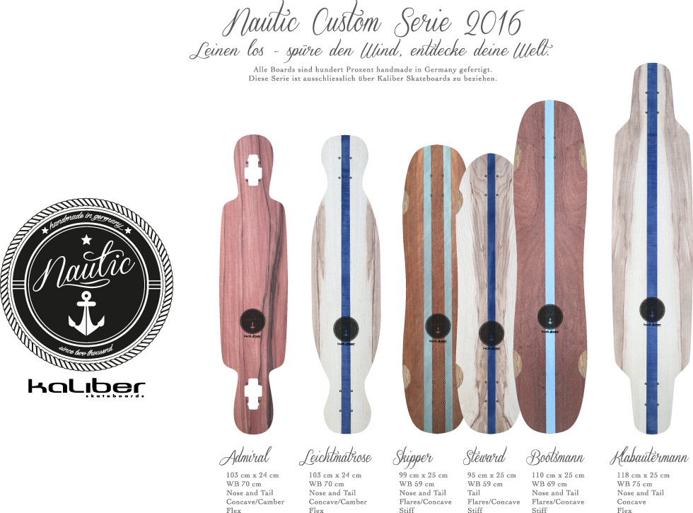 kaliber skateboards - Nautic Customboards