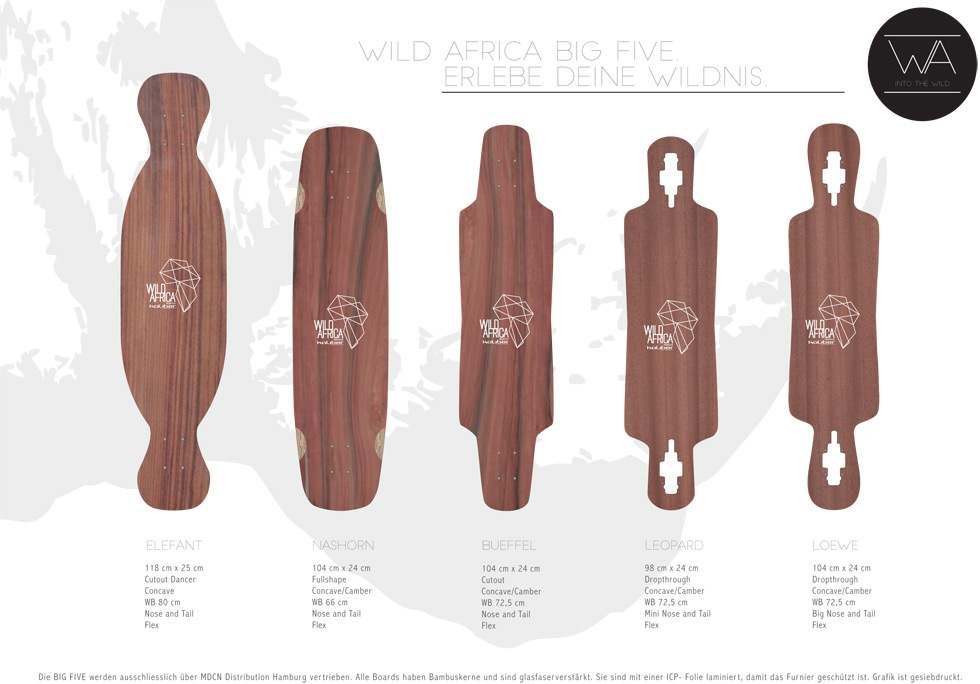 kaliber skateboards - Wild Africa Big Five