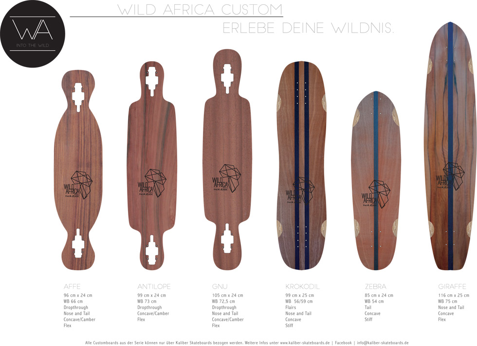 kaliber skateboards - Wild Africa Customboards